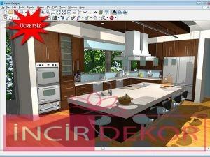 ücretsiz 3 boyutlu mutfak tasarımı