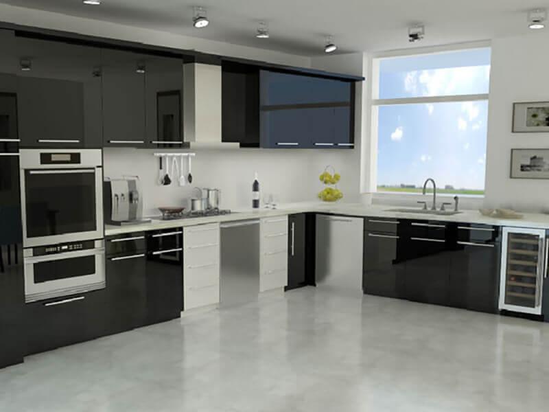 amerikan mutfak dolabı modeli 17