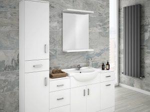 Beyaz Renk Banyo Dolabı Modeli