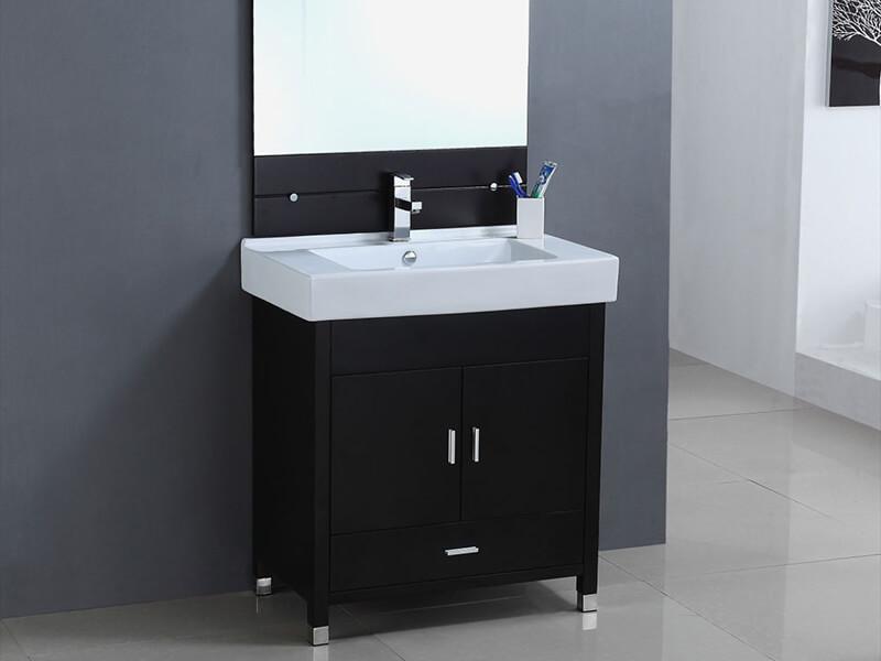 Porselen Lavabolu Banyo Dolabı