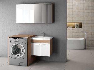Çamaşır Makinesi Yeri Olan Banyo Dolabı