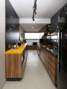Minimalist Ahşap Mutfak Dolabı Modeli