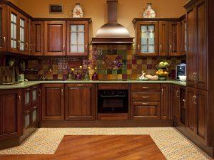 Rustik Ahşap Mutfak Dolabı Modeli