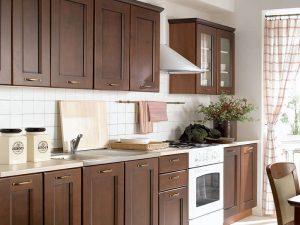Modern Kahverengi Mutfak Dolabı Modelleri