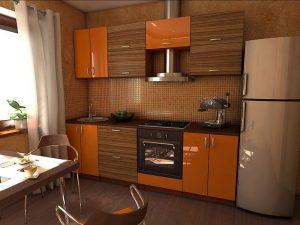 Kahverengi Turuncu Mutfak Dolabı Modeli