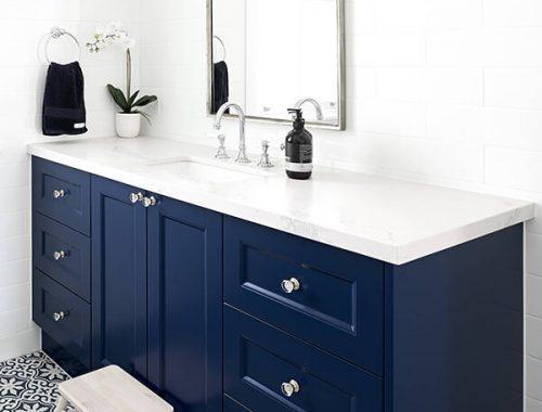 Samimi 38 Mavi Renk Banyo Dolabı Modeli