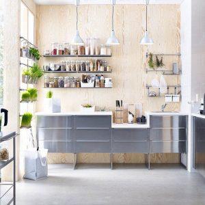 modern gri mutfak dolabı