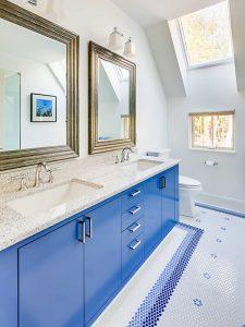 Açık Mavi Renk Banyo Dolabı