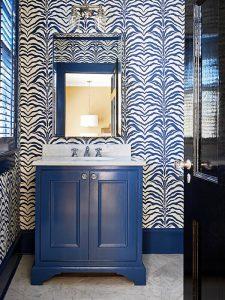 Tek Kişilik Mavi Renk Banyo Dolabı