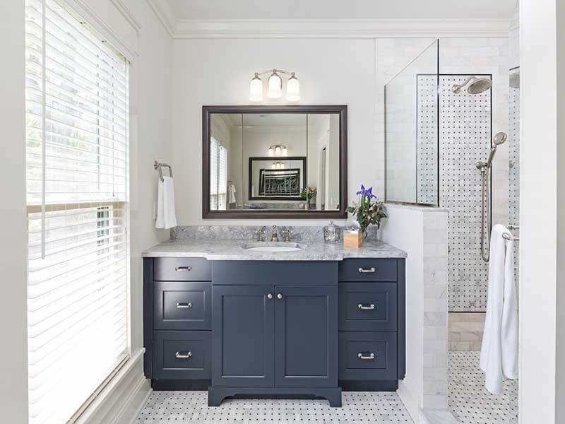 Misafir Banyosu Mavi Renk Banyo Dolabı