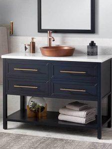 4 Çekmeceli Mavi Renk Banyo Dolabı
