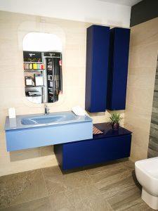 Boy Dolaplı Mavi Renk Banyo Dolabı