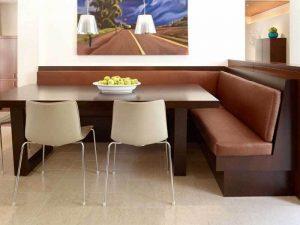 Kahverengi Renk Mutfak Köşe Takımı Modeli