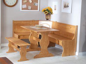Kayın Ağacı Mutfak Köşe Takımı Modeli