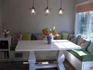 Beyaz Masalı Mutfak Köşe Takımı Modeli