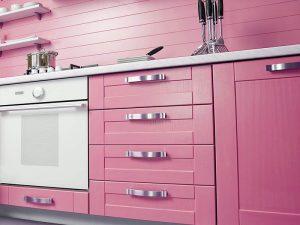 Pembe Mutfak Dolabı