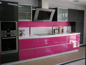 Modern Pembe Mutfak Dolabı Modeli