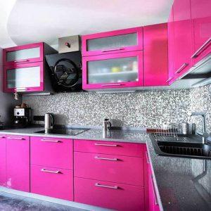Pembe Renk Mutfak Dekorasyonu