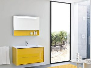 Kulpsuz Sarı Renk Banyo Dolabı MOdeli