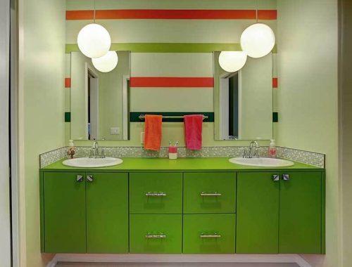 Cezbedici 37 Yeşil Renk Banyo Dolabı Modeli