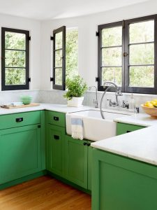 Yeşil Mutfak Dolapları