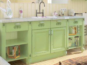 Dekoratif Yeşil Renk Banyo Dolabı Modeli