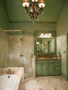 Rustik Yeşil Renk Banyo Dolabı Modeli