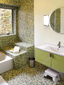 Açık Yeşil Renk Banyo Dolabı Modeli