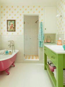 Altı Raflı Yeşil Renk Banyo Dolabı Modeli