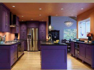 mürdüm siyah mutfak dolabı modeli