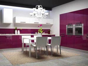 fuşya mutfak dolabı modeli