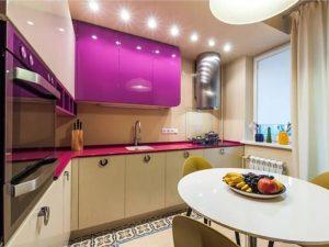 fuşya beyaz mutfak dolabı modeli