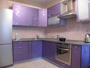 mor mutfak dolabı modeli