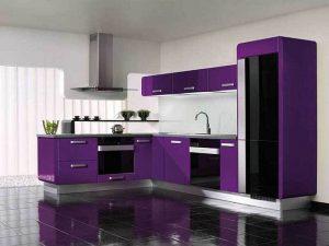 minimalist mürdüm mutfak dolabı modeli