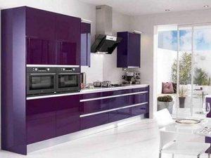 modern mürdüm mutfak dolabı modeli