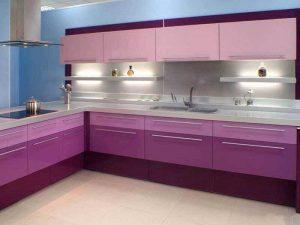 mürdüm mavi mutfak dolabı modeli
