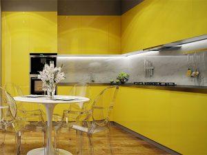 kulpsuz sarı mutfak dolabı