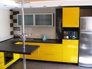 sarı siyah mutfak dolabı