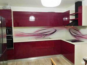 Kavşit High Gloss Mutfak Dolabı Modeli