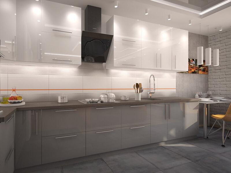 Akbük High Gloss Mutfak Dolabı Modeli
