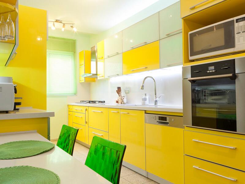 Altınkum Akrilik Mutfak Dolabı Modeli