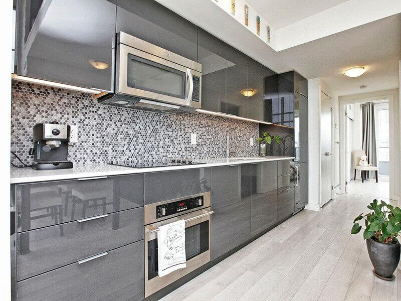 Köşk High Gloss Mutfak Dolabı Modeli