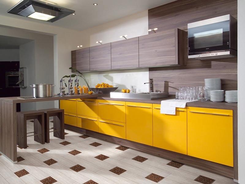 Karpuzlu Akrilik Mutfak Dolabı Modeli