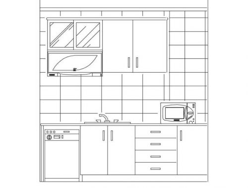 Kitchen Cad Blocks dwg