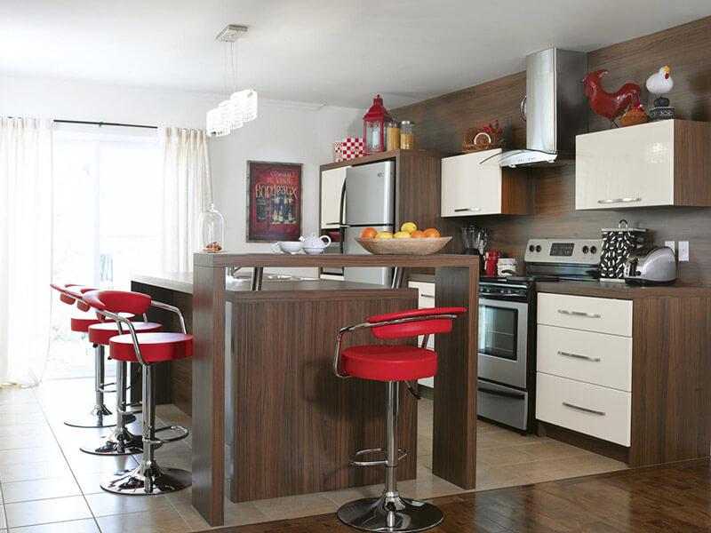 Koçarlı Akrilik Mutfak Dolabı Modeli