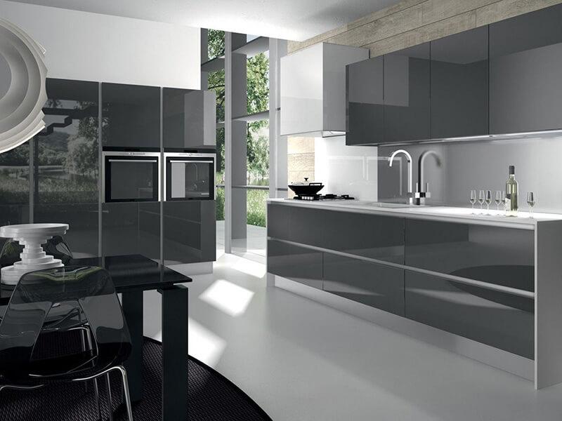 Kuşadası High Gloss Mutfak Dolabı Modeli