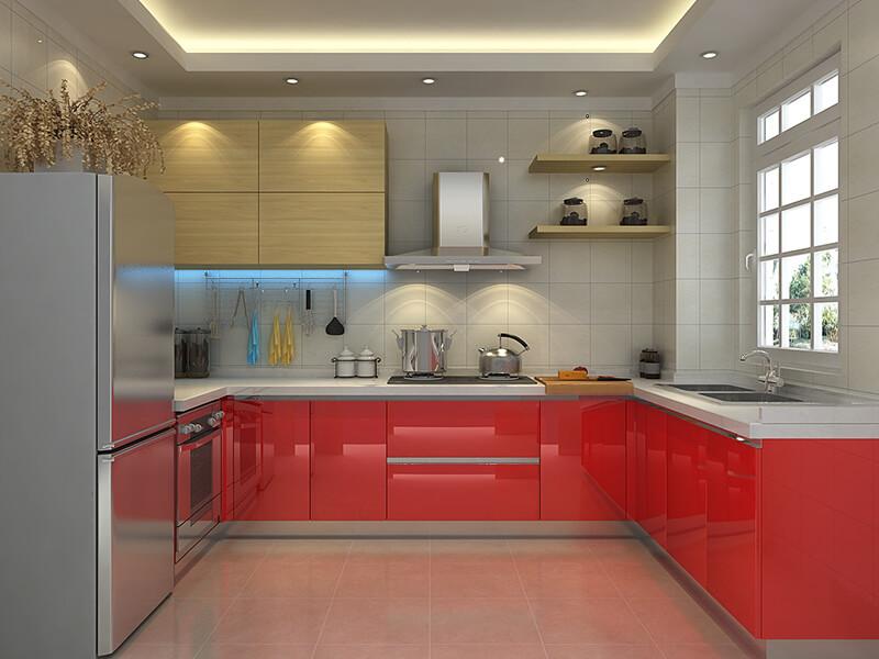Madran Akrilik Mutfak Dolabı Modeli