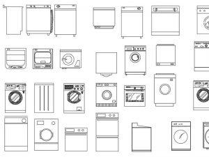 bulaşık makinesi dwg çamaşır makinesi dwg