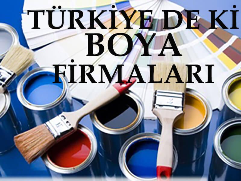 boya firmaları