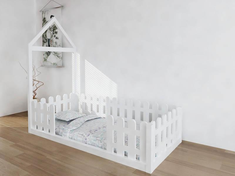 çatısız montessori bebek yatağı